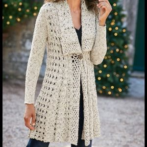 Soft Surroundings Teressa Crochet Cardigan
